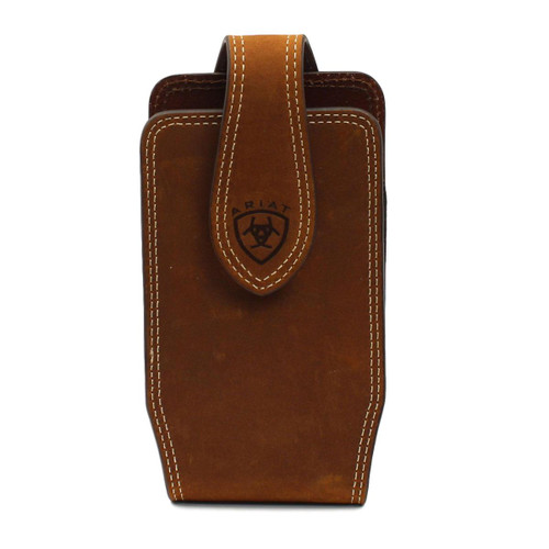 Brown Leather Tapered Cell Phone Case