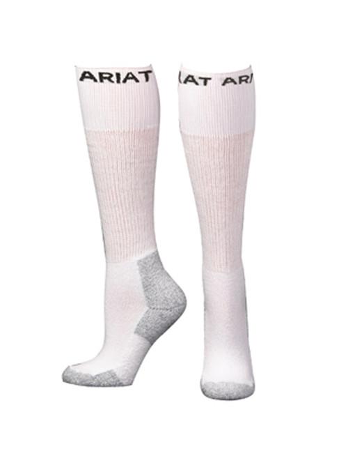 Men's White Over the Calf Socks