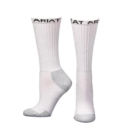Men's White Mid Calf Boot Socks