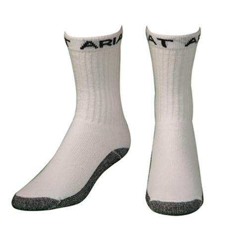 Men's White Super Crew Boot Socks