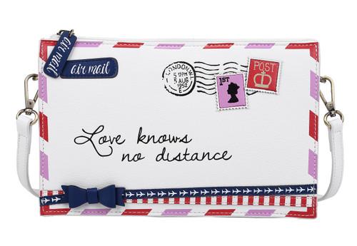 Post Box White Envelope Crossbody/Clutch Bag