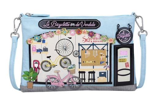 La Bicyclette de Vendula Sky Blue Pouch Crossbody Bag