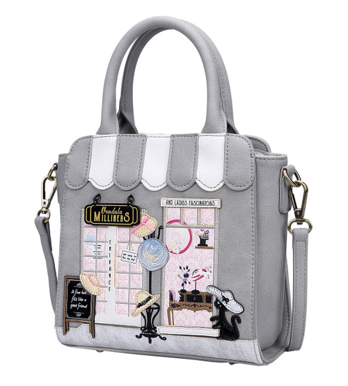 Grey Milliners Hat Shop Mini Tote