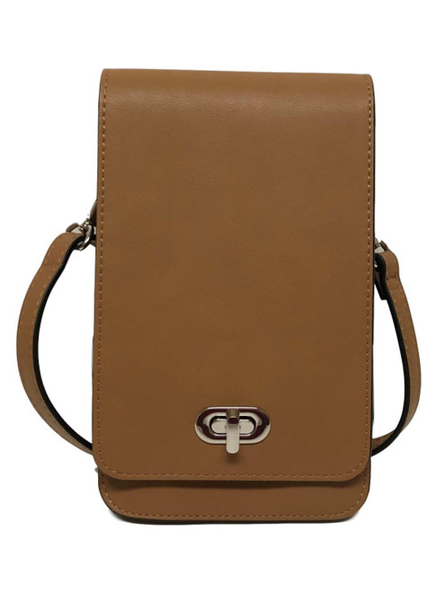 Classic Elegance Brown Touch Screen Crossbody Purse