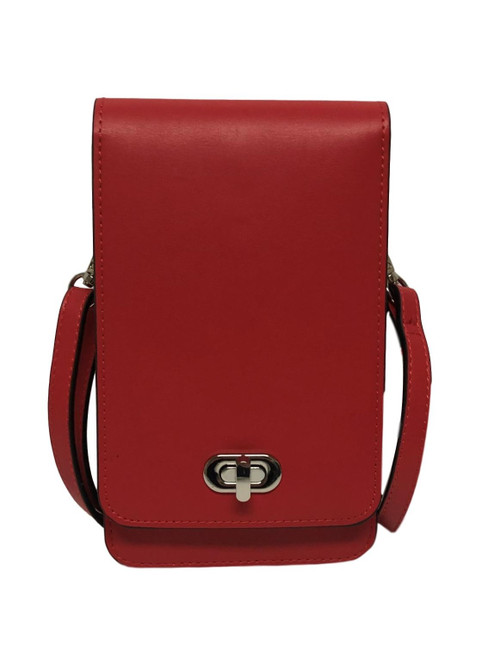 Classic Elegance Red Touch Screen Crossbody Purse