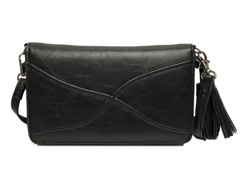 Encounter Black Touch Screen Ziparound Crossbody Purse
