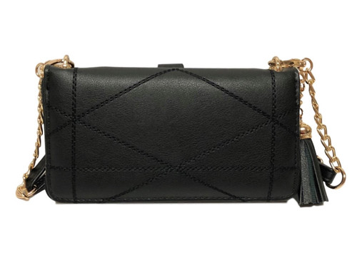 Allure Black Touch Screen Ziparound Crossbody Purse