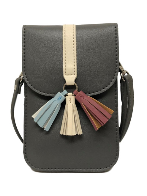 Arizona Pebble Grey Touch Screen Crossbody Purse