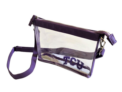 Texas Christian University Stadium Clear Bag Crossbody