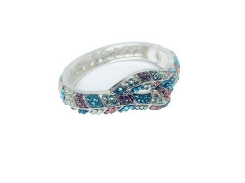 Multi-color Swarovski Crystal Bangle Bracelet