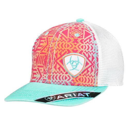 Women's Multicolor Tribal Design Ball Cap