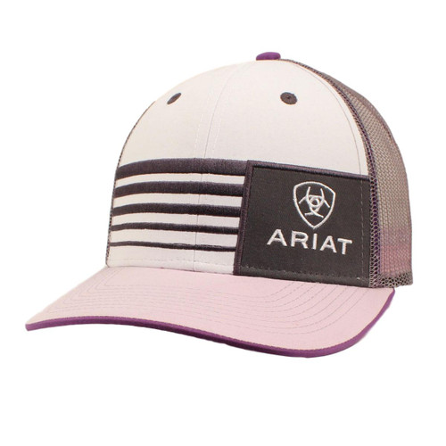 Women's Lavender Striped Ball Cap