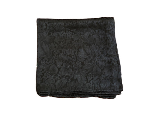 Black Silk Jacquard Wild Rag Scarf