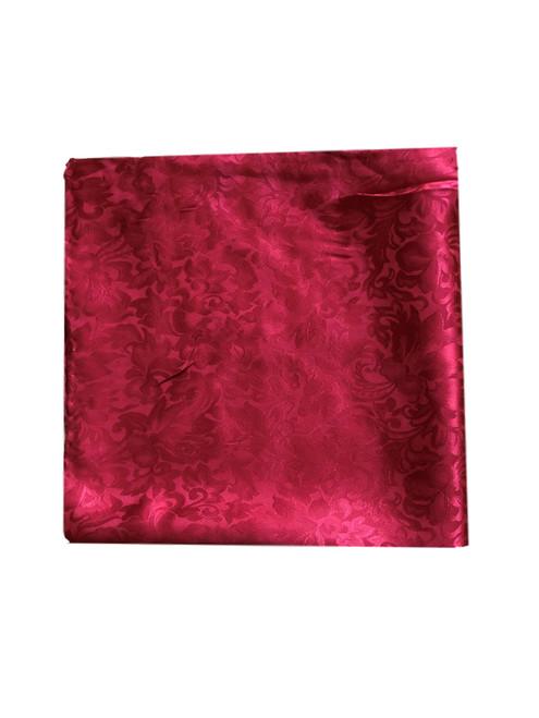 Red Silk Jacquard Wild Rag Scarf