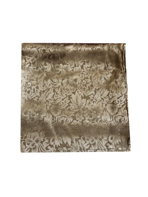 Brown Silk Jacquard Wild Rag Scarf
