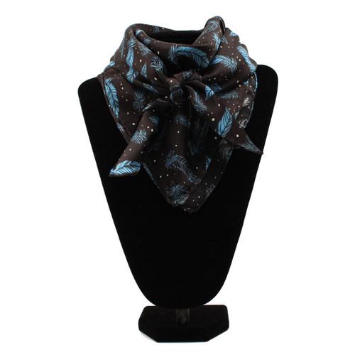Navy and Light Blue Silk Wild Rag Scarf