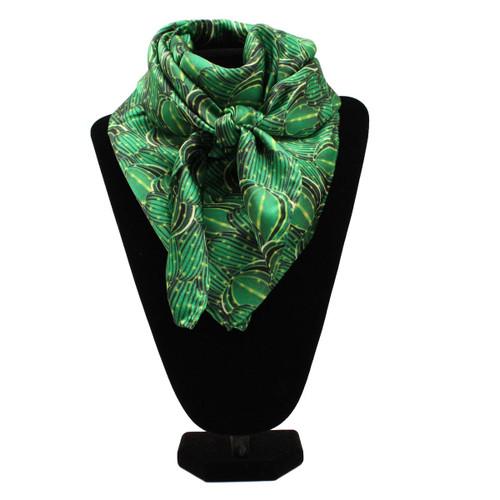 Green Cactus Silk Wild Rag Scarf