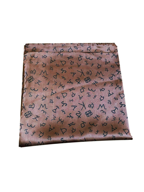 Brown Silk Brand Iron Wild Rag Scarf