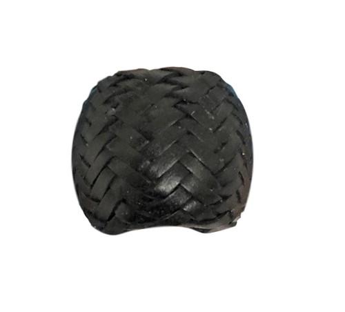Black Rawhide Wild Rag Scarf Slide