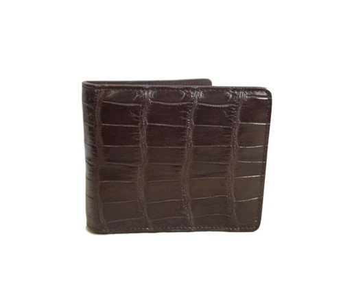 Men's Luxury Genuine Alligator Brown Bifold Wallet