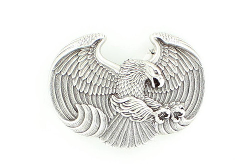Men's Silver Eagle Shaped Belt Buckle