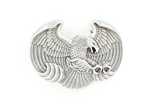 Men's Silver Eagle Shaped Belt Buckle
