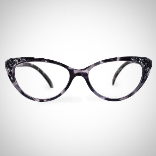 Women's Demi Black Swarovski Crystal Readers