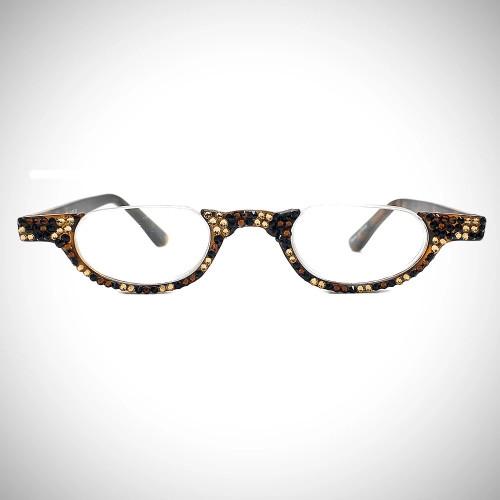 Women's Leopard Swarovski Crystal Readers
