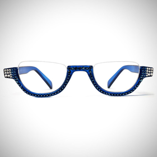 Women's Blue Swarovski Crystal Readers