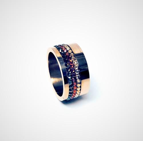 Women's Rose Gold Swarovski Crystal Ring
