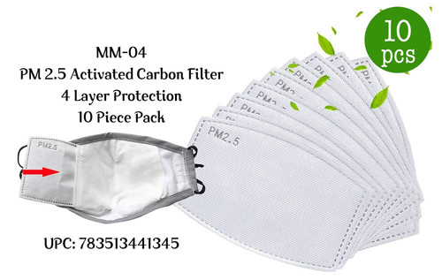 PM 2.5 Activated Carbon Filter - 10 pack