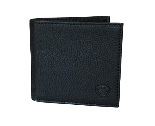 Men's Large Black Bifold Leather Wallet