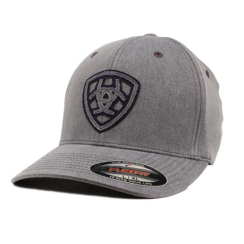 Men's Grey Flex Fit Brushed Cotton Ball Cap