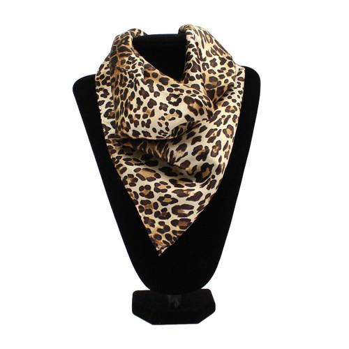 Leopard Print Silk Wild Rag Scarf