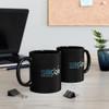 Black 11oz. Ceramic C-Handle Mug