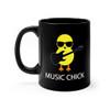 "Black 11oz. ""Music Chick"" Ceramic Mug"