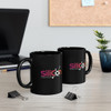 "Black ""Silicon"" 11oz. Ceramic C-Handle Mug"