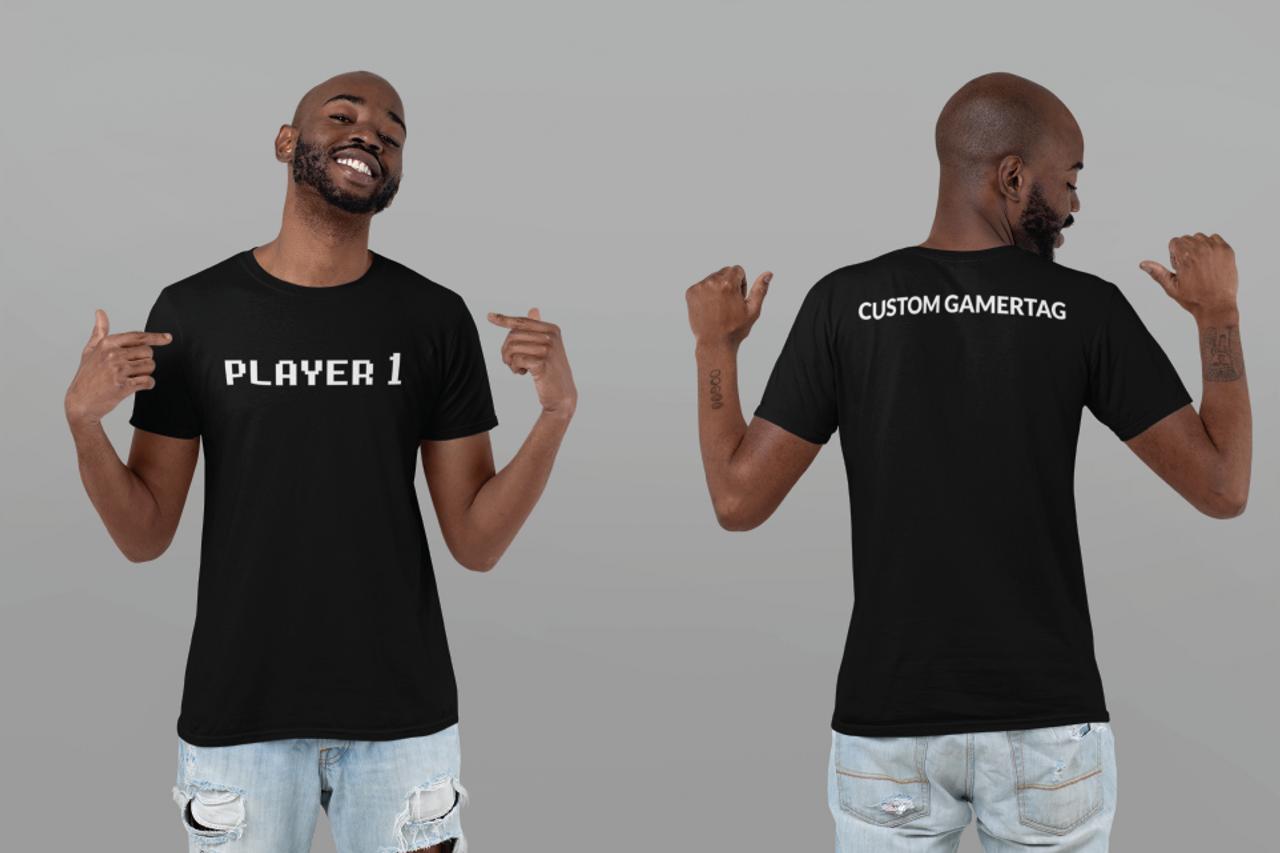 Unisex Custom GamerTag Black Tee