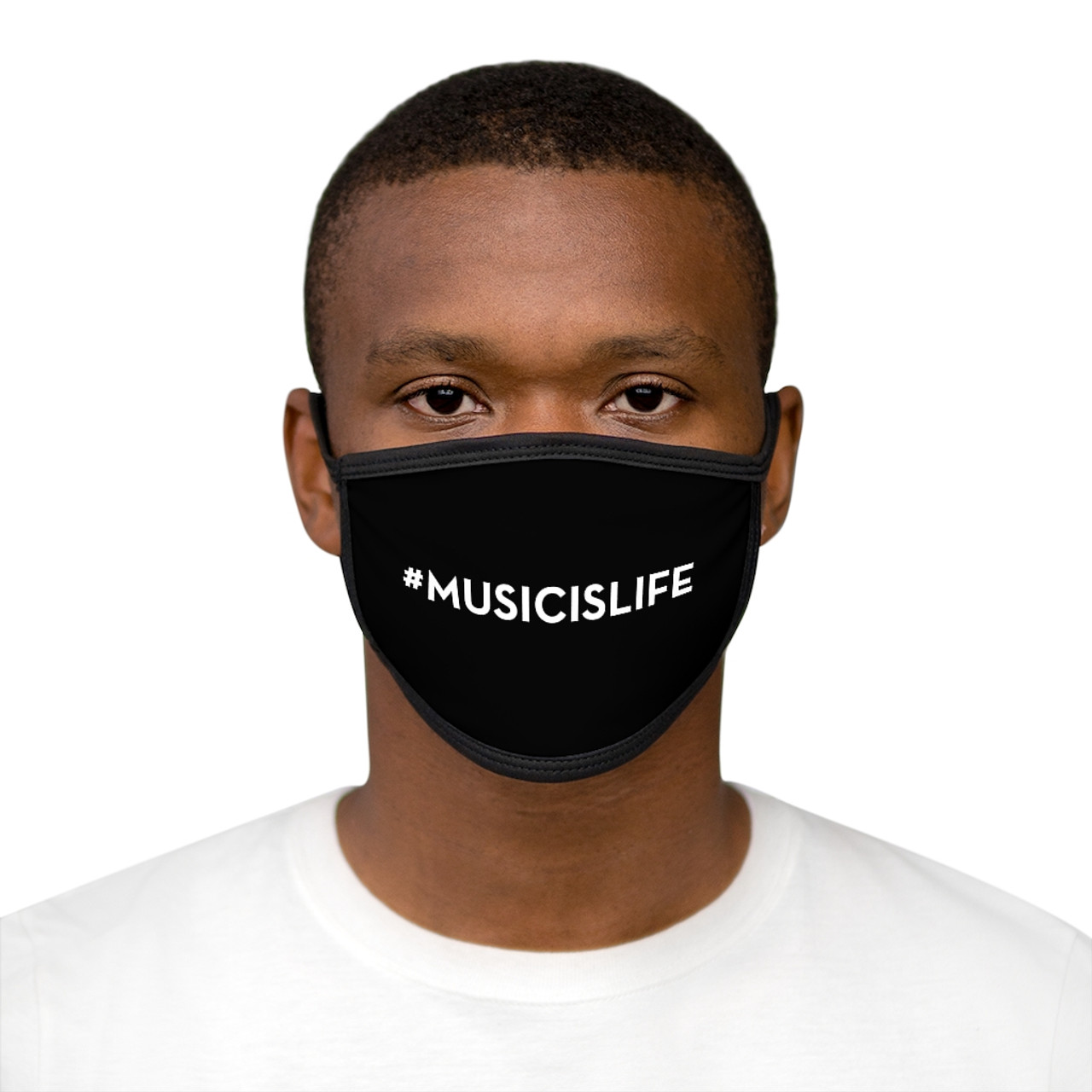 """#MUSICISLIFE"" Face Mask"