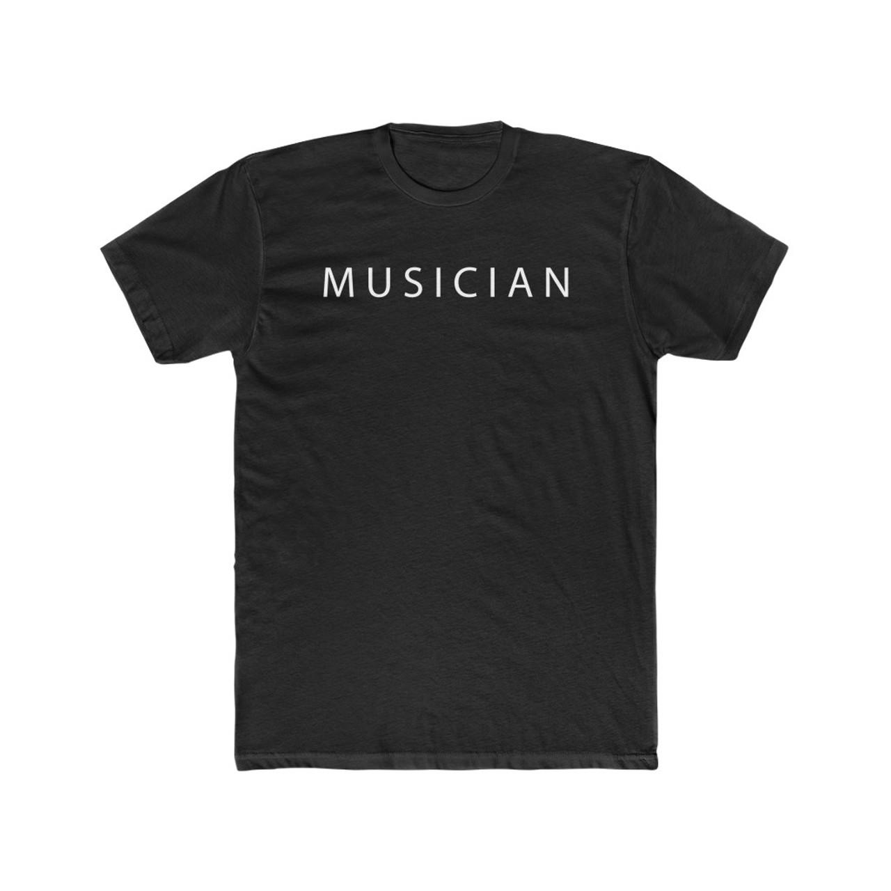"Black ""MUSICIAN"" Soft Cotton Tee"