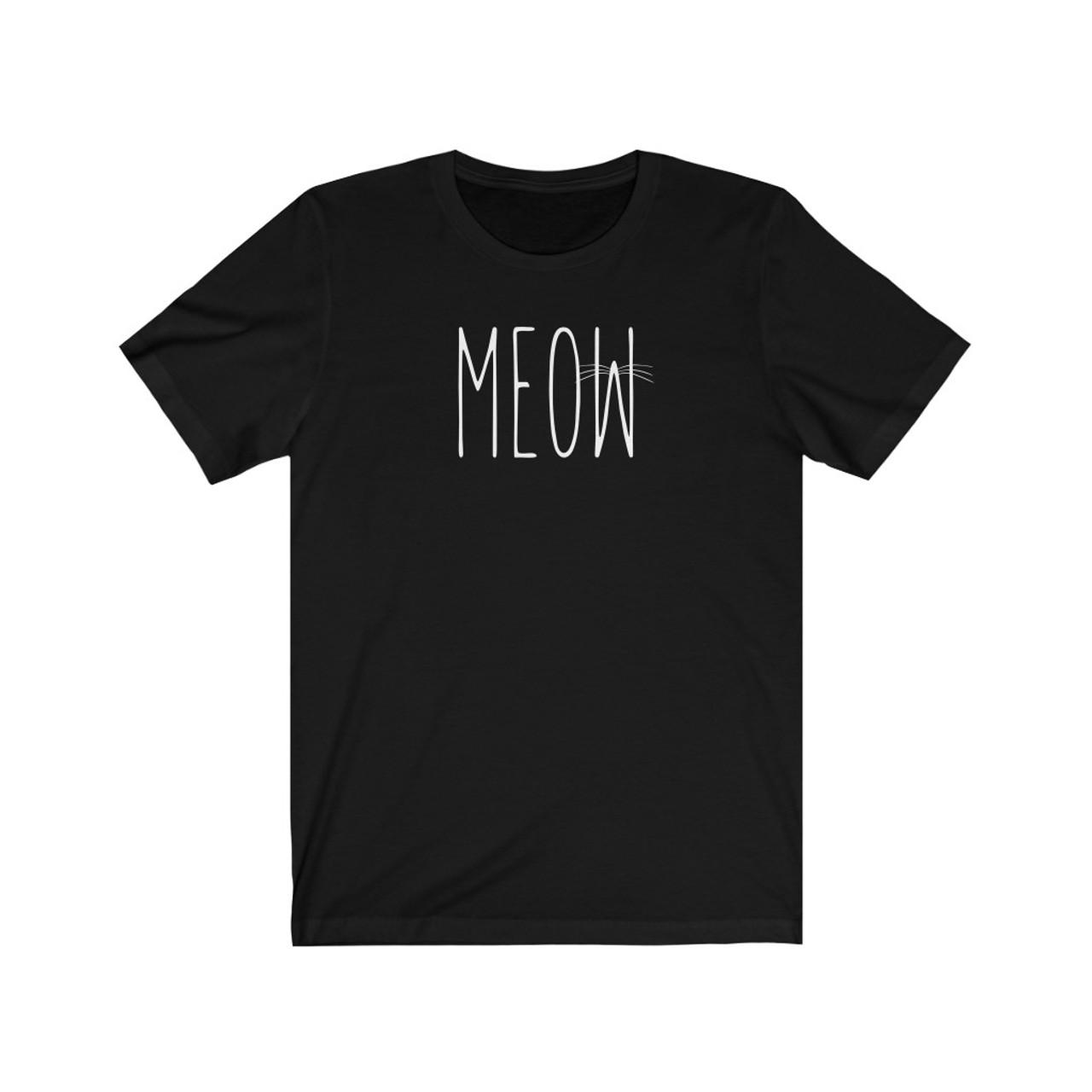 """Unisex """"Meow"""" Jersey Short Sleeve Tee"""