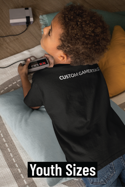Youth Custom GamerTag Black Tee
