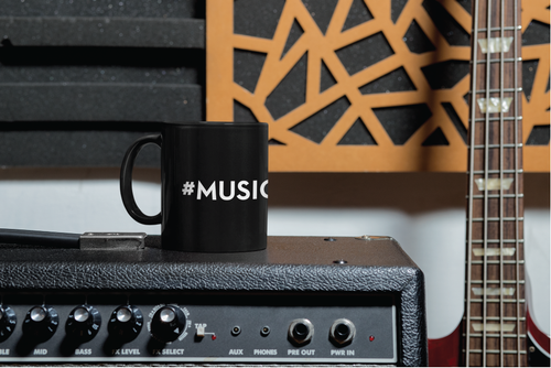 Black 11oz. Ceramic Mug