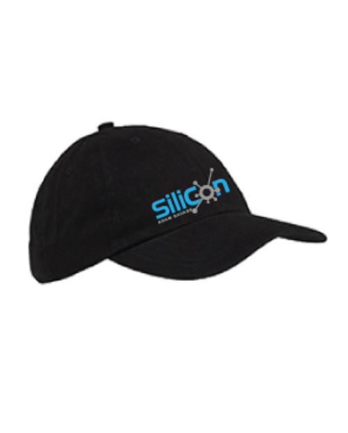 Black Cotton Twill Adjustable Hat