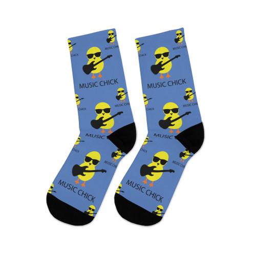"""Music Chick"" Polyester/Nylon Socks"