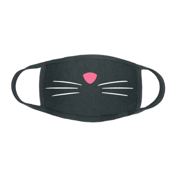 """""""Cat Nose & Whiskers"""" Stretch Face Mask"""
