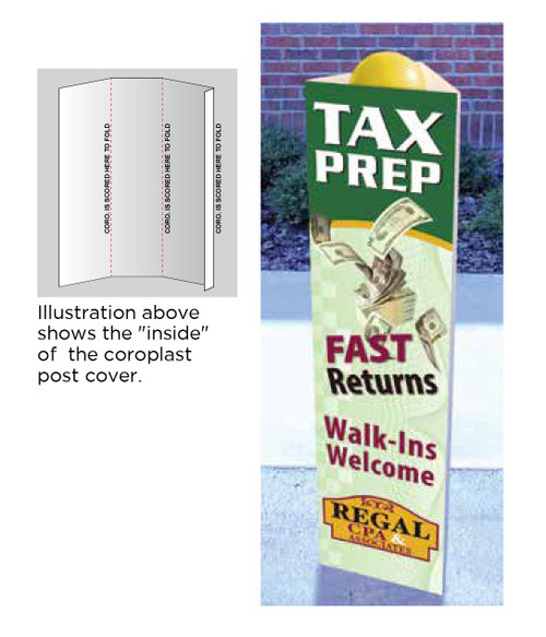 Custom Printed Post Covers
