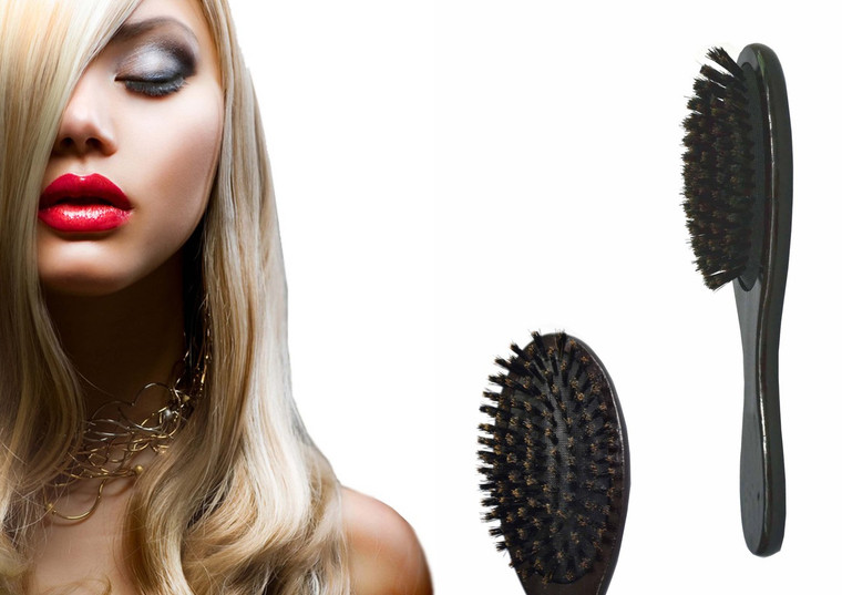 VAU BEAUTY HAIR EXTENSION BRUSH - BOAR BRISTLE