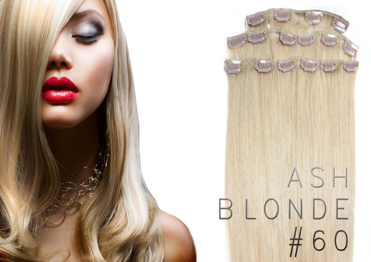 "20"" CLIP IN REMY HUMAN HAIR EXTENSION 