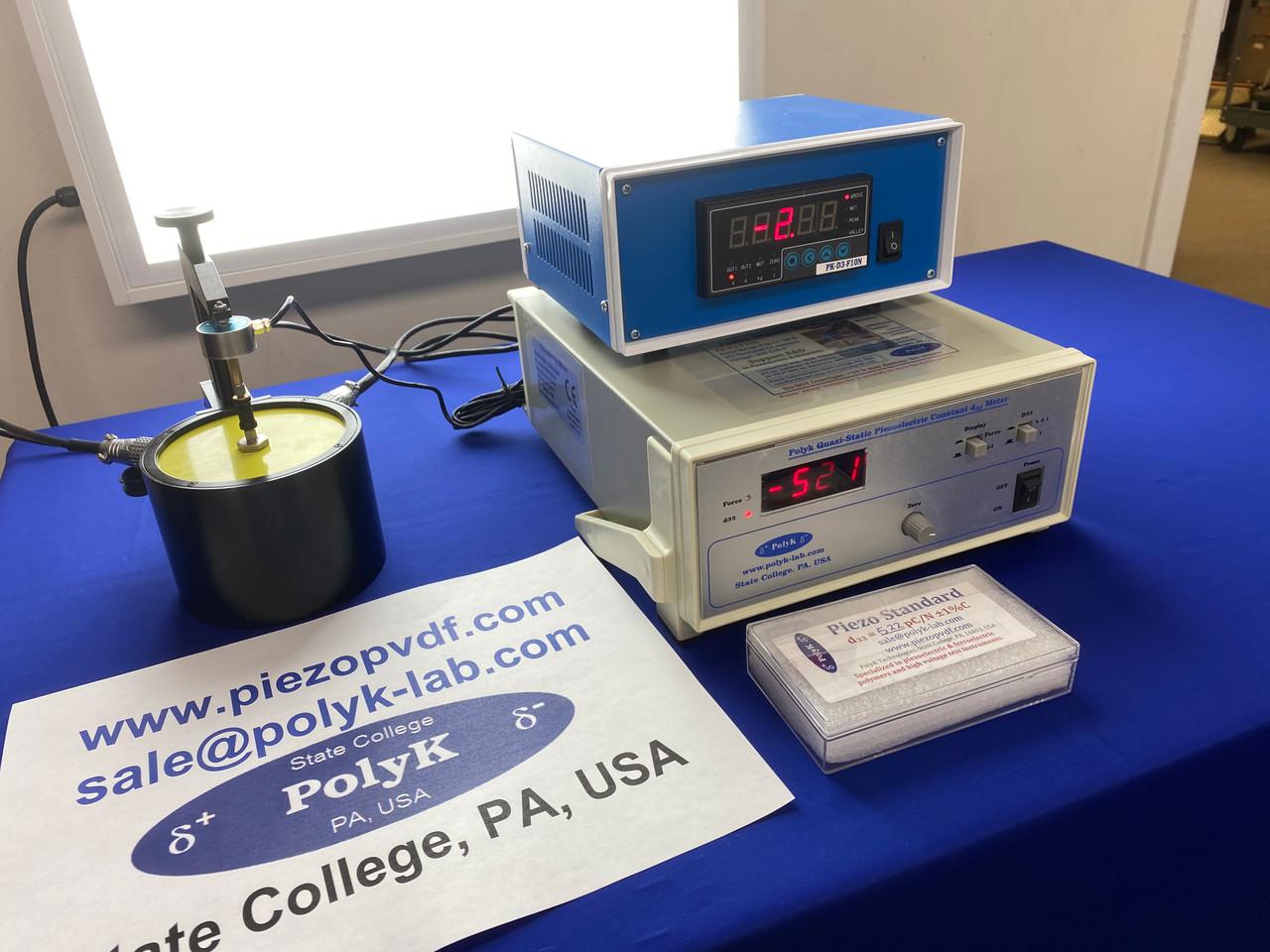 Piezoelectric meter (2000 pF/N) to measure d33 piezoelectric constant, with static force sensor